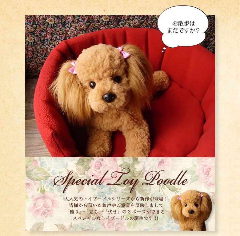 A new work appeared from the popular Toy Poodle series!