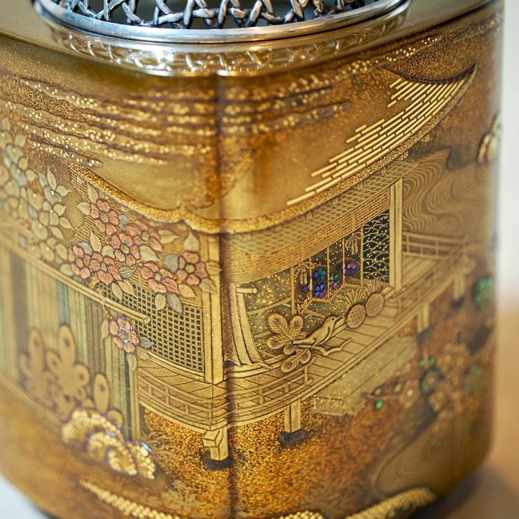 "Hatsunezu Makie Incense Burner \""Saikiko\"" made by Ken MAKIE Studio - 03"