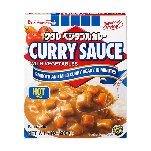 House Foods Curry Sauce with Vegetables, Hot