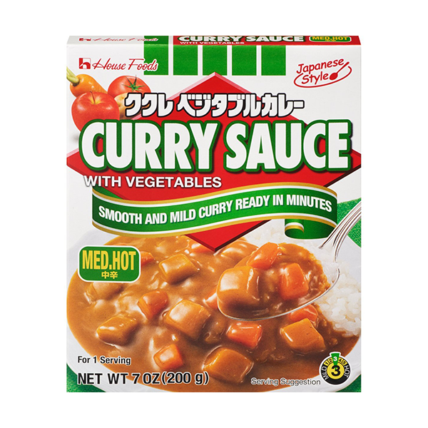 House Foods Curry Sauce with Vegetables, Medium Hot
