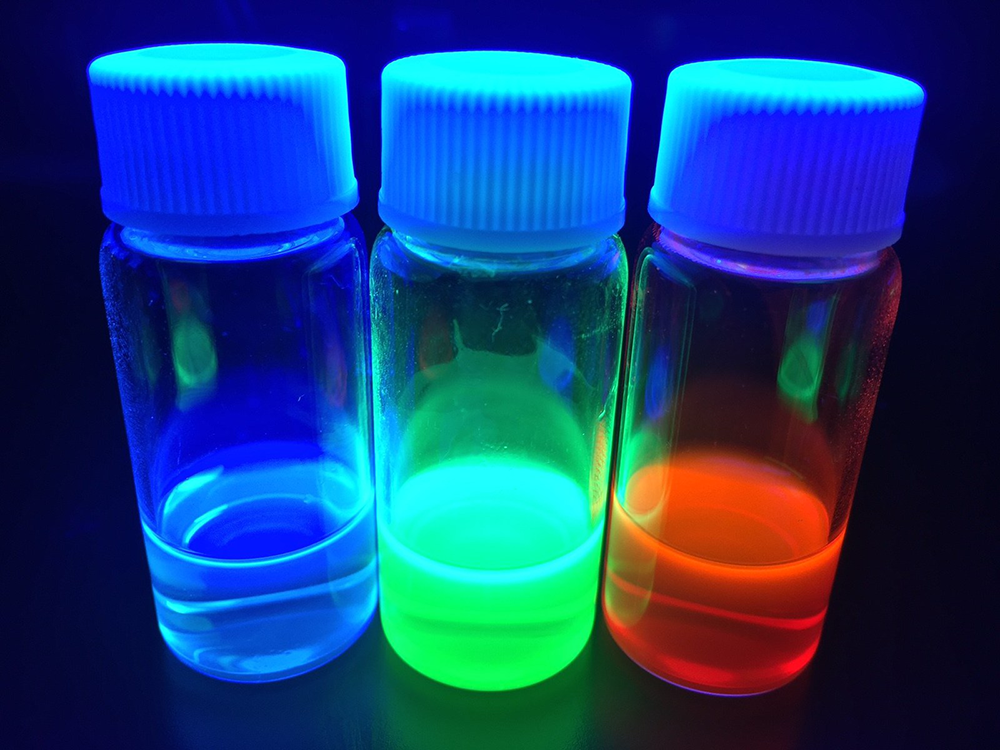 perovskite quantum dots under UV light