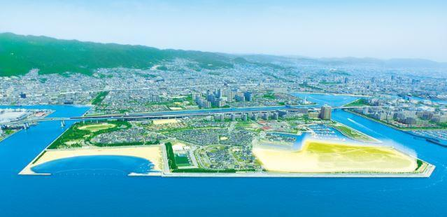 Area where PanaHome's Smart City Shioashiya Solar-Shima is being developed