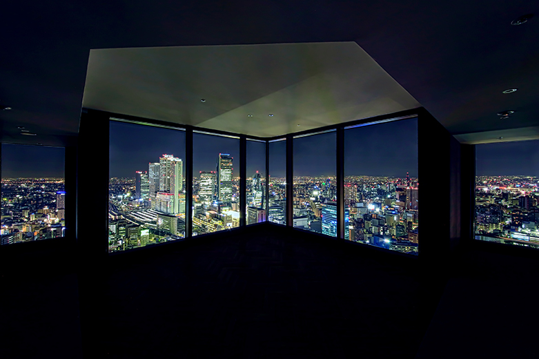 Nagoya Prince Hotel Sky Tower - Premium corner room Night-view