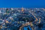 Night view of Tokyo city