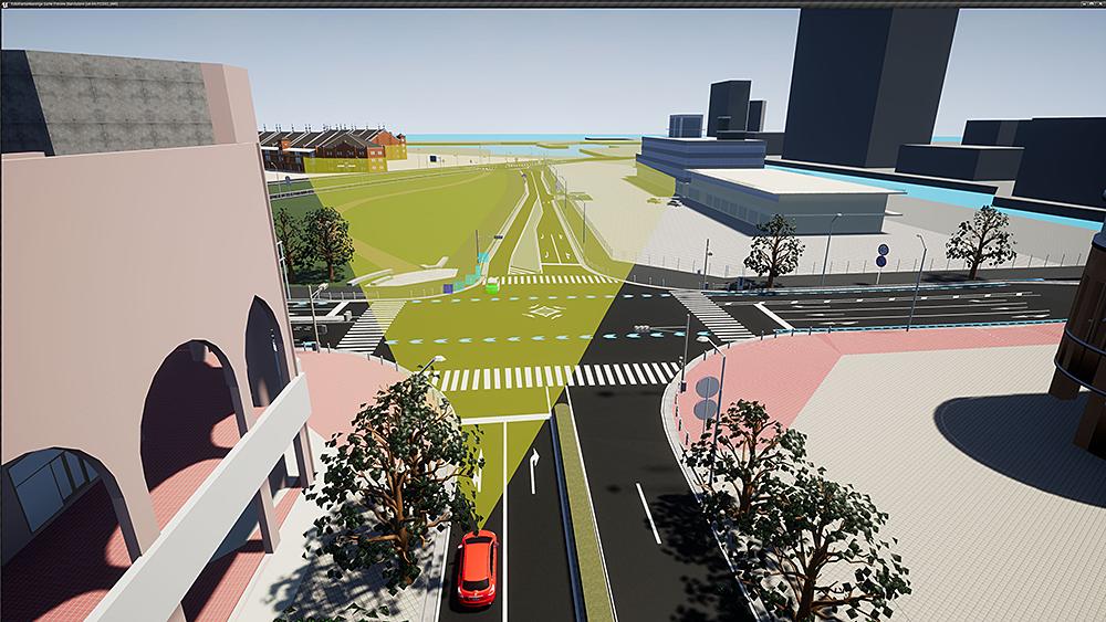 Radar Simulation on 3DCG MAP