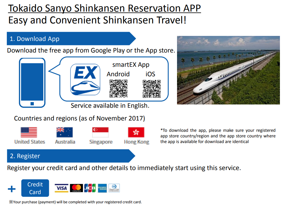 JR Central - Tokaido Sanyo Shinkansen Reservation App: Guide 01