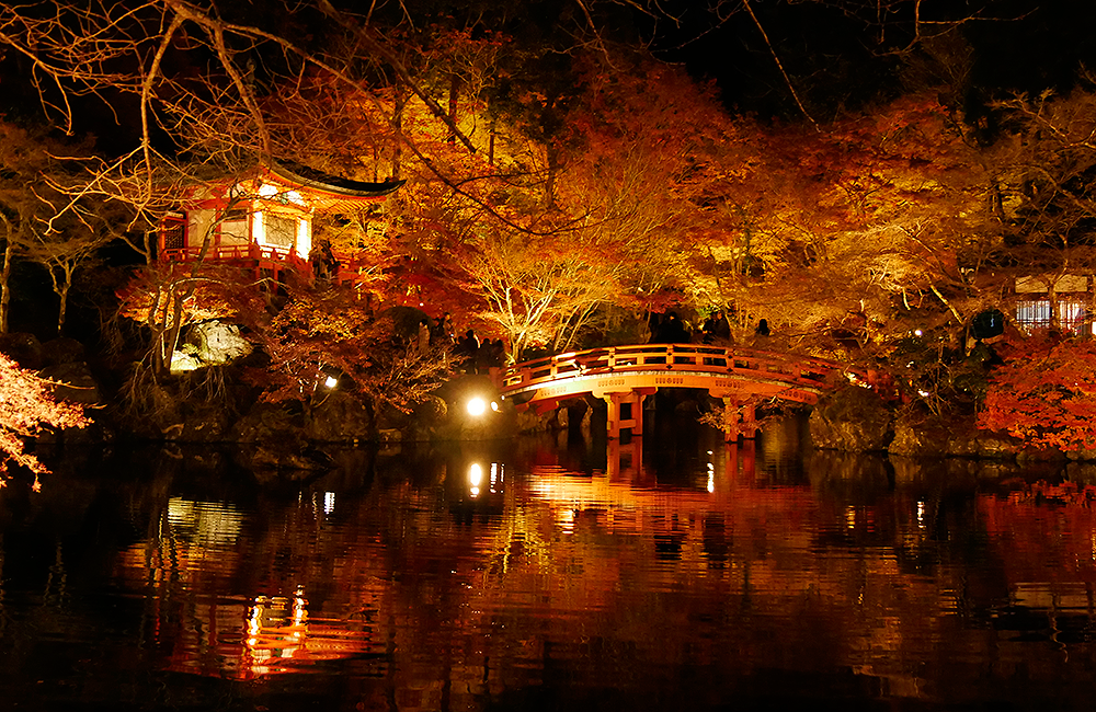 Bentendo Hall Daigoji Temple Kyoto in Autumn