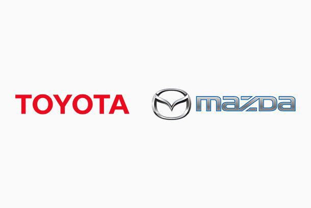 Mazda and Toyota - Logos