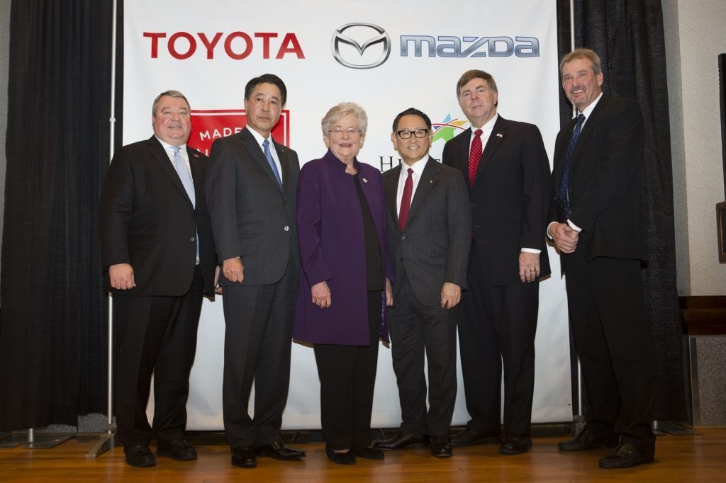 Alabama Governor Kay Ivey and Huntsville Mayor Tommy Battle joined Mazda (TYO: MZDAF) and Toyota (NYSE: TM) leaders