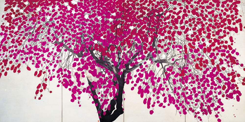 FUNADA, Gyokuju, Flowers (Image of Evening), 1938 (Exhibit Date : February 18 - April 16)