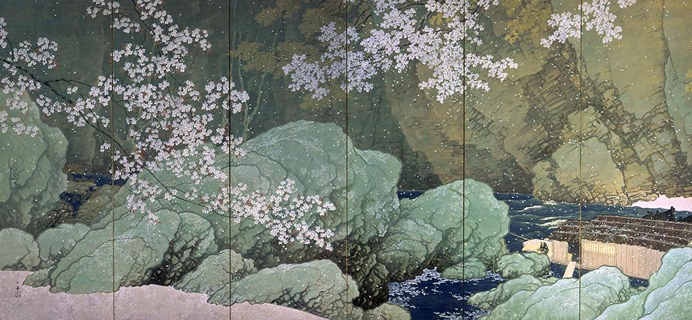 KAWAI Gyokudo, Parting Spring, 1916, Important Cultural Property - 01