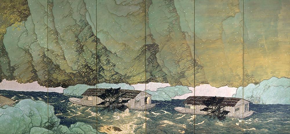 KAWAI Gyokudo, Parting Spring, 1916, Important Cultural Property - 02