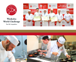 Washoku World Challenge 5th Competition - Banner