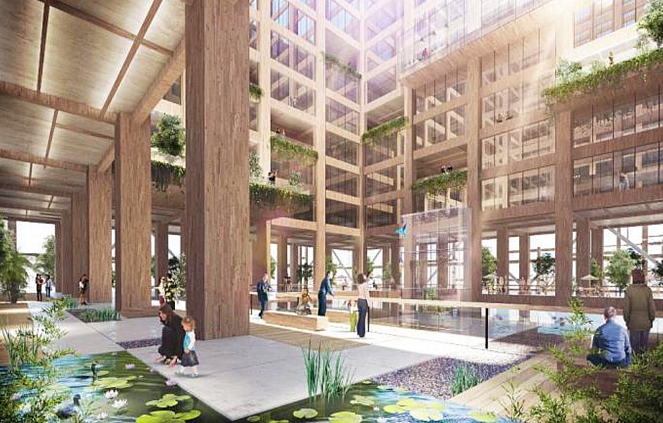 Sumitomo Forestry's Wooden Building Floor 2