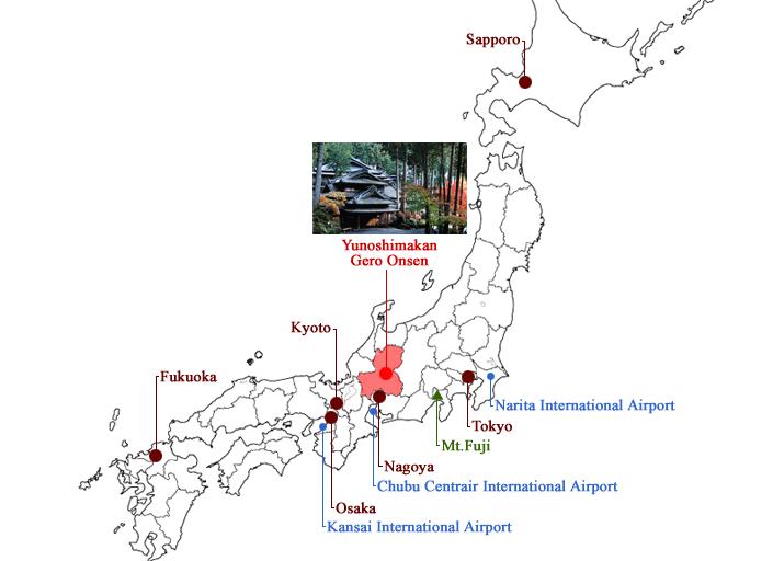 Gero Onsen Yunoshimakan Japan Map