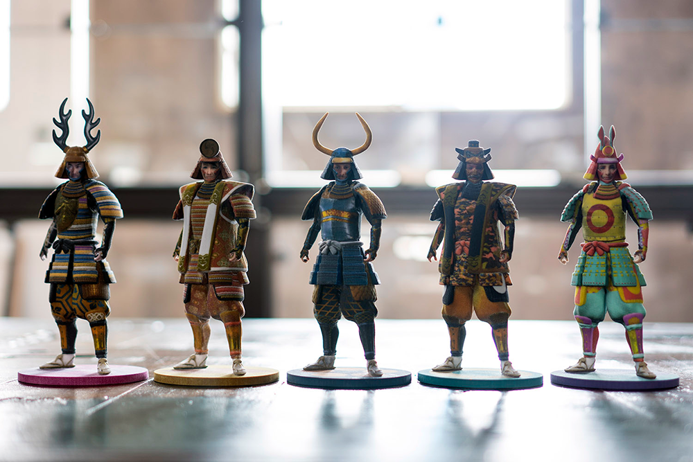 """""""IS JAPAN COOL?"""" - """"CRAFTSMANSHIP"""": After creating the SAMURAI AVATAR, visitors can print it out on a 3D printer to create their own action figure."""