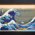 Jewelry Art Painting - The Great Wave off Kanagawa / Hokusai Katsushika