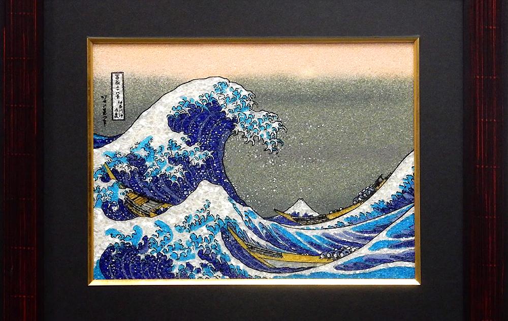 Jewelry Art Painting - The Great Wave off Kanagawa / Hokusai Katsushika