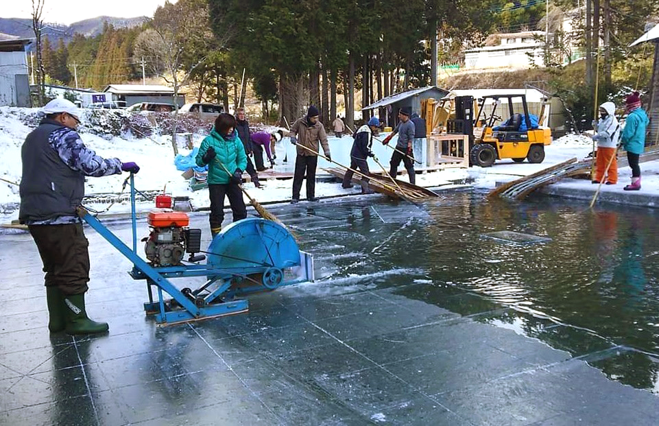 Natural ice carefully produced in the Nikko