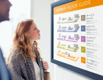 Fuji Xerox: kyDesk Media Message Synchronizes Signage Screen and Audio Announcements