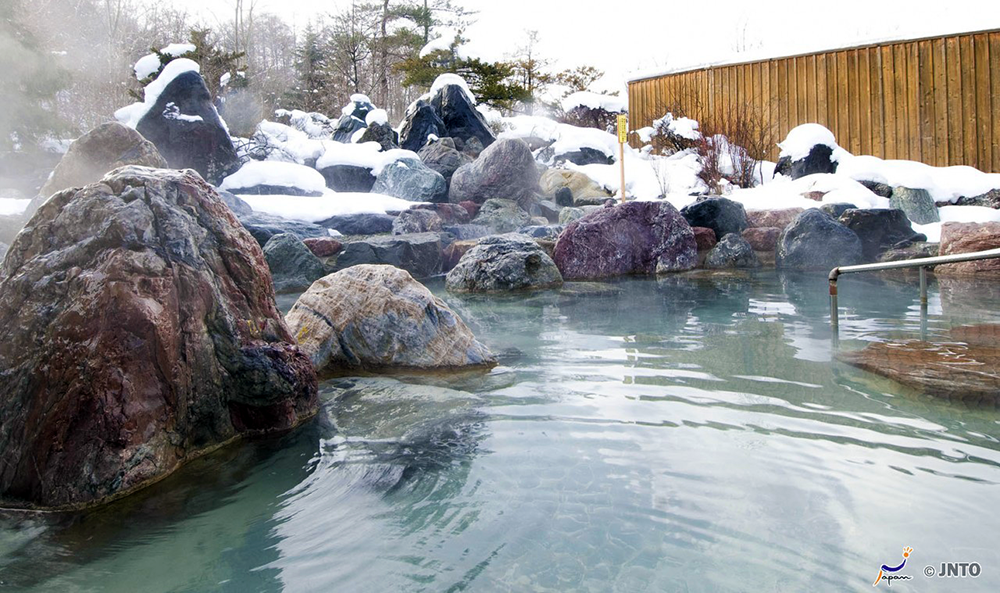 Hot Spring at Seiryuen in Hokkaido