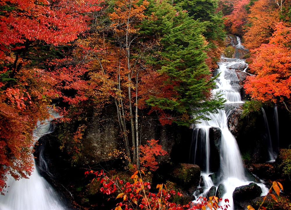 Ryuzu Waterfall in Nikko