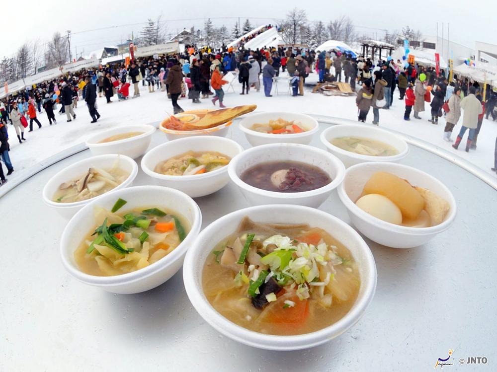 Snow festival in Shin-totsukawa town in Hokkaido
